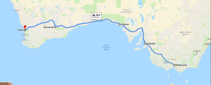 Melbourne to Perth - Inland route