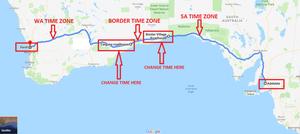 Time zones across the Nullarbor