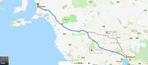 Melbourne (VIC) to Adelaide (SA) inland route