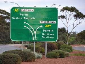 Crossroads sign at Port Augusta (SA)