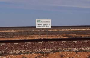 The World's Longest Straight Railway Track