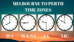 Time Zones between Melbourne and Perth